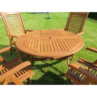 meble ogrodowe drewniane z krzesłami Bosbury