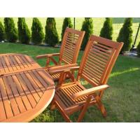 meble ogrodowe z krzesłami Bosbury