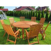 komplet mebli ogrodowych ze stołem Cocos
