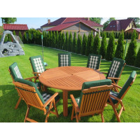Zestaw ogrodowy (Stół Cocos 180cm + zestaw 8 krzeseł 5-pozycyjnych do wyboru + 8 poduch do wyboru)
