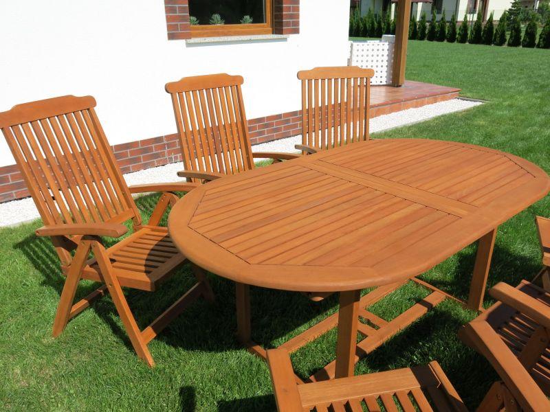 Meble Ogrodowe Sztuczny Rattan Allegro : Meble ogrodowe drewniane stół + 6 krzeseł HIT !!!  4285652704