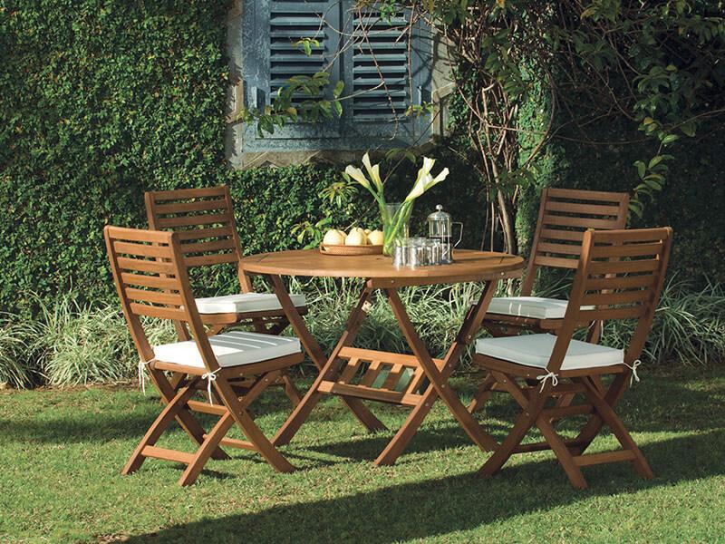 meble drewniane stół krzesła