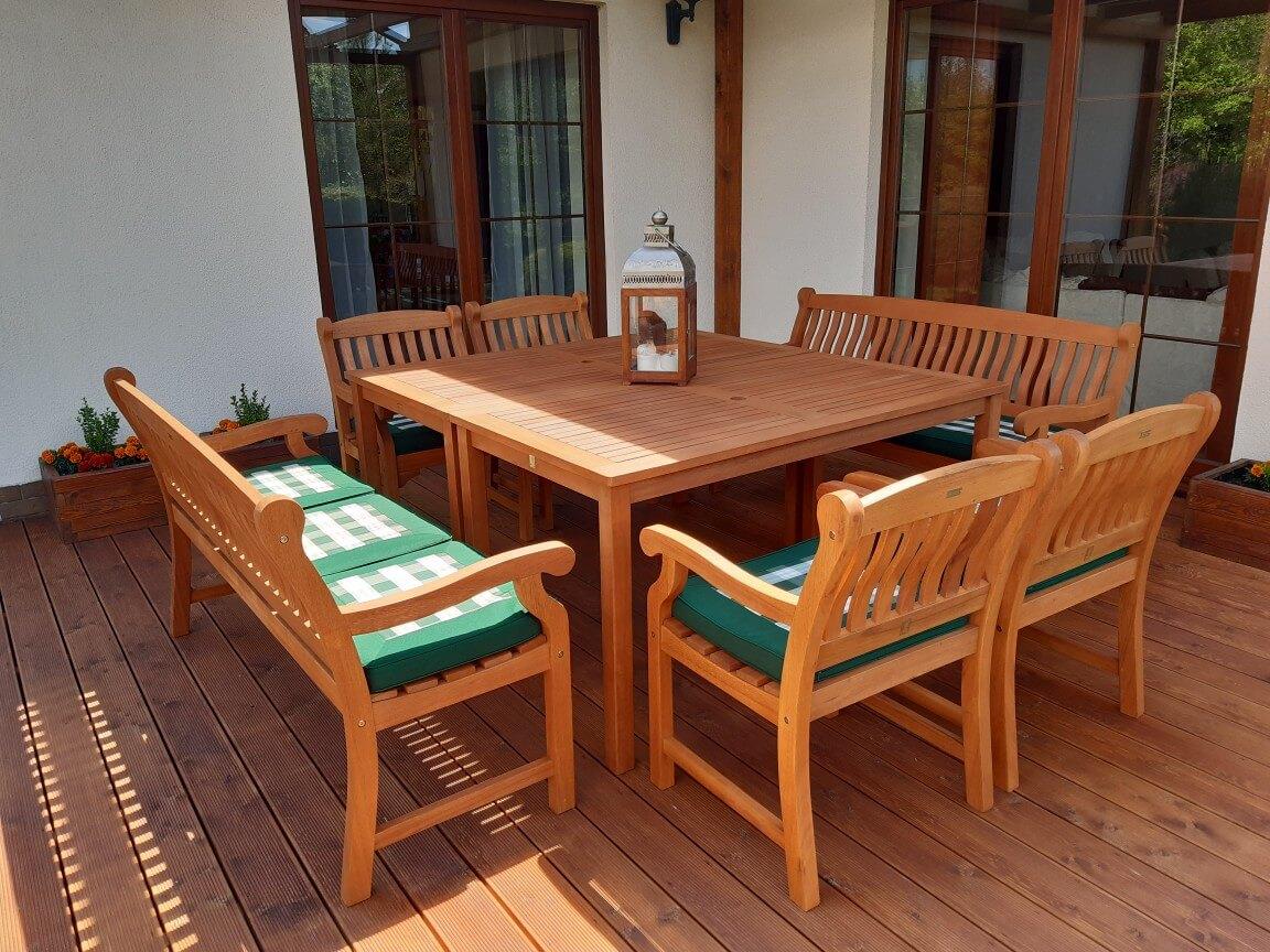 stoły ogrodowe drewniane